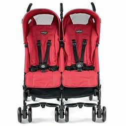 Peg Perego 2016 Pliko Mini Twin Double Stroller in Mod Red B