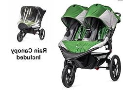Baby Jogger 2016 Summit X3 Double - Green/Gray with Double R