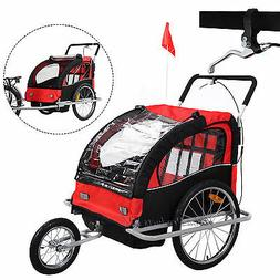 2in1 Kids Baby Child Bicycle Bike Trailer Carrier Jogging St