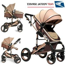 3 in 1 Baby Stroller High View Landscape Stroller Folding Ca