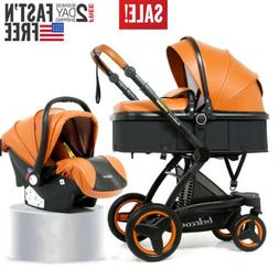 3 In 1 Baby Stroller Luxury Pushchair Foldable Buggy Infant