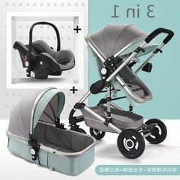 3 in 1 High View Foldable Two Way Push Baby Stroller Portabl