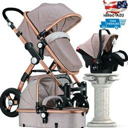3in1 luxury baby stroller with car seat