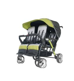 Foundations 4 Seat Sport Stroller Lime-Green & Black,Twin &