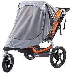 BOB Sun Shield for Duallie Swivel Wheel Strollers, Grey