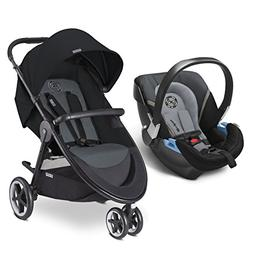 CYBEX Agis M-Air 3/Aton 2/Aton Base 2 Travel System, Moon Du
