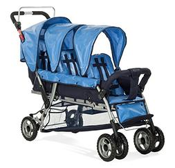 Child Craft Sport Multi-Child Triple Stroller, Regatta Blue