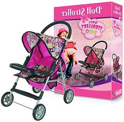 My First Doll Stroller Super Cute with Front Table and Stora