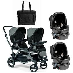Peg Perego - Duette Piroet Atmosphere Double Car Seat Travel
