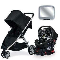 Britax B-Lively & B-Safe Ultra Travel System, Cowmooflage wi