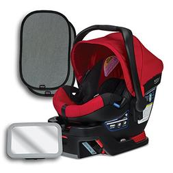 Britax B-Safe 35 Infant Car Seat, Red, Back Seat Mirror, and