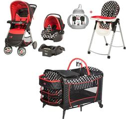 Disney Baby Combo Set Stroller with Car Seat Playard Chair C