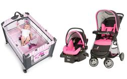 Disney Baby Combo Set Stroller with Car Seat Deluxe Playard