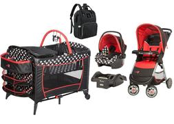 Disney Baby Combo Set Stroller with Car Seat Playard Mickey