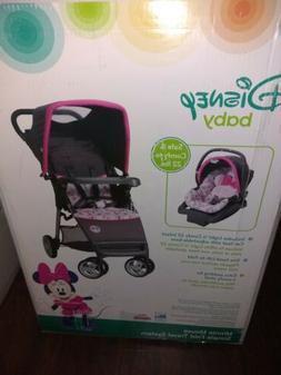 baby simple fold lx travel system minnie