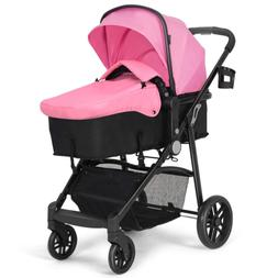 Baby Stroller, 2 in 1 Convertible Carriage Bassinet to Strol
