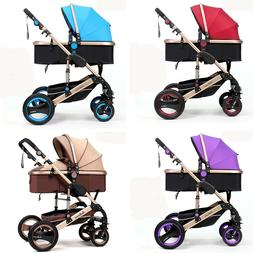 Baby Stroller 2 in 1 Folding Baby Carriage High view Newborn