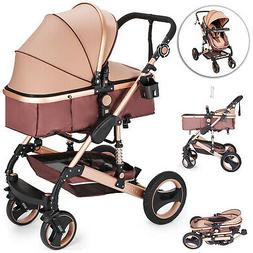 3 in 1 Foldable Baby Kids Travel Stroller Newborn Infant Pus