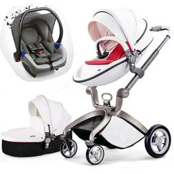 Baby Stroller 3 in 1 travel system Combo Pushchair folding p