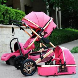 Baby Stroller 3in1 High View Strollers Pram Foldable Pushcha
