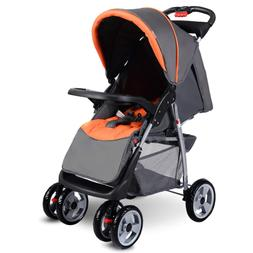 Baby Stroller, Foldable Infant Pushchair with 5-Point Safety