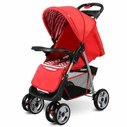 Costzon Baby Stroller Foldable Infant Pushchair with 5-Point