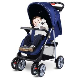 Baby Stroller Folding Pushchair w/Canopy breathable non toxi