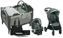 Baby Stroller Travel System with Car Seat Infant Playard Cri