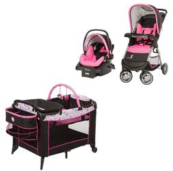 Baby Stroller with Car Seat and Base Playard Disney Pink Tra