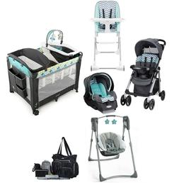 Baby Stroller with Car Seat and Car Base Playard Swing Chair