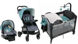 Graco Baby Stroller with Car Seat Infant Playard Crib Travel