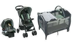 Graco Baby Stroller with Car Seat Playard Crib Travel System
