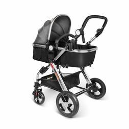 Besrey Baby Strollers Reversible Sleep Basket Travel System