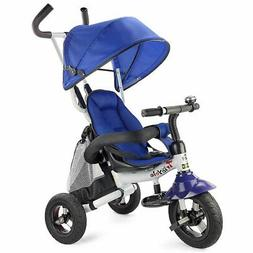 Costzon Baby Tricycle 6-in-1 Ride On Steer Stroller Learning