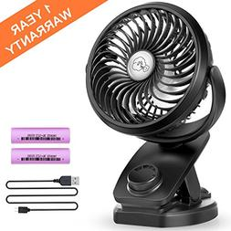 Battery Operated Clip on Stroller Fan - Mini Portable Desk F
