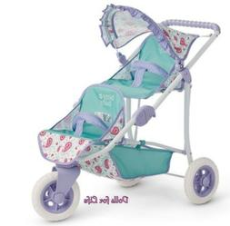American Girl Bitty Baby or Twins blue Double Stroller for D