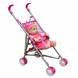 Brand New Fun Toddler Kid Connection Baby Doll Stroller Play