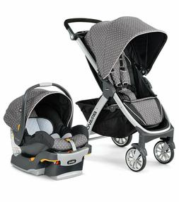 Chicco Bravo Trio 3-in-1 Baby Travel System Stroller-Lilla|