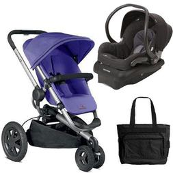 Quinny Buzz Xtra Travel System in Purple Black with Diaper B