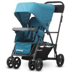 Joovy Caboose Ultralight Sit and Stand Double Stroller, Turq