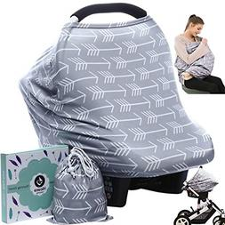 Car seat Canopy Nursing Cover - Multi use Baby Stroller and