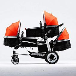 Littlefairy Baby Carriage,Triplets Stroller Baby Trolley Hig