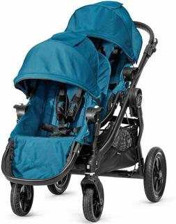 city select twin tandem double stroller teal