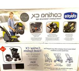 Chicco Cortina CX Travel System Stroller, Iron- Brand New