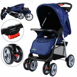 Costway Foldable Baby Kids Travel Stroller Newborn Infant Bu