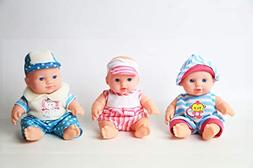 Wonder Cute Little New Born 8 inch Baby Washable Dolls Set o