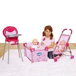 Chicco Deluxe Nursery Time Fun for Baby Dolls Play Set, Pink