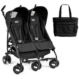 Peg Perego - Stroller Pliko Mini Twin Onyx Black With Black