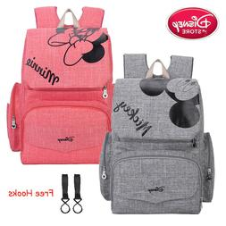 Disney Mickey Minnie Baby Maternal Stroller Backpack Nappy D
