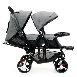 Double Bay Stroller Contours Curve Double Tandem Stroller in